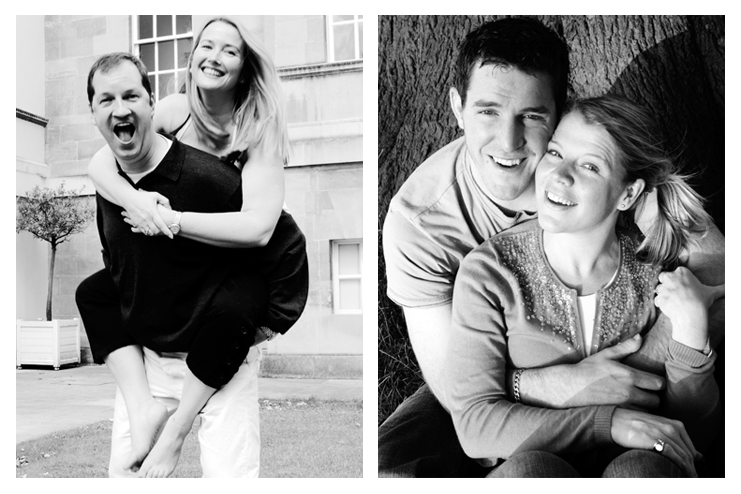 Piggy back engagement photo